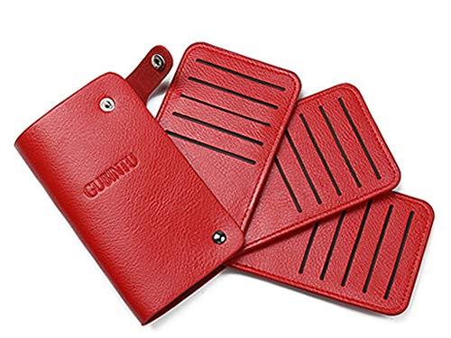 「スーツケースカンパニー」GPTカードホルダーケース 30枚 クレジットカードケース PUレザー アウトレット レッド