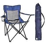 URPRO Chaise de Camping, Chaise Pliante Chaise Longue pour Le Camping, Randonnée, Plage, Pêche, Léger, Chaise de Camping Bleu Marine