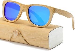 1b1fda0246 Gafas De Sol.La Madera De Bambú Cuadrados Mujeres Hombres Gafas De Sol  Gafas De