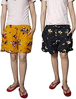 Ukal Combo Printed Cotton Comfortable Shorts for Women and Girls Daily Use, Evening, Night Wear, Casual Wear (Color: Multicolor)