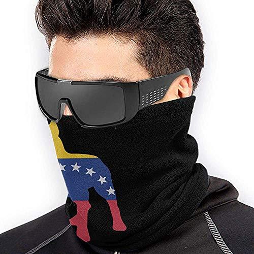 Neck Gaiter Warmer Patriótico Pitbull Bandera De Venezuela A Prueba De Viento Durable Senderismo Suave Polaina Correr Festival De Música Calentador De Cuello Acogedor Sin Costura U