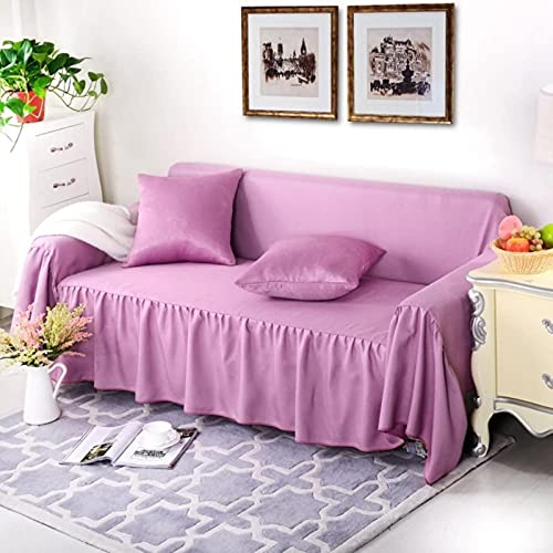HZYDD Cubiertas de sofás, Color sólido Cristal Velvet Sofa SOFACOVER Simple Modern Modern TEATE Cumple con el sofá Muebles Protector-J 200x200cm (79x79inch)