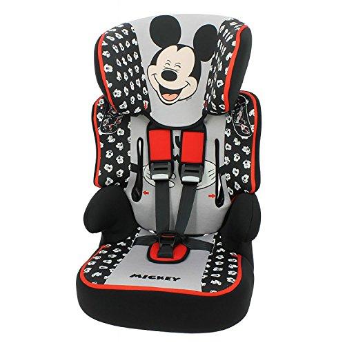 mycarsit Autositz und Sitzerhöhung, Gruppe 1/2/3(von 9bis 36kg), Motiv Mickey