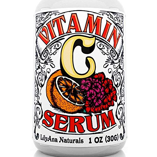 Vitamin C Serum for Face - Face Serum with Hyaluronic Acid and Vitamin E, Anti Aging Serum, Reduces Age Spots and Sun Damage, Promotes Collagen and Elastin - 1oz