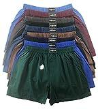 .bakis. 3/6/9/12 Stück Klassische Herren Boxershorts Unterhosen Unterwäsche mit Eingriff in Normalgröße und Übergröße in verschiedenen Unifarben Gr.5(S)-13(6XL) - 6 Stück - Gr. 8(XL)