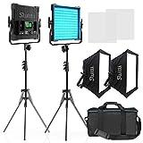 Switti RGB LED Video Light, 50W Full Color Photography Video Lighting Kit, 552 pcs LEDs/CRI 97, 2600K-10000K/Brightness 0-100%/0-360 Adjustable Colors/9 Kinds of The Scene Lights