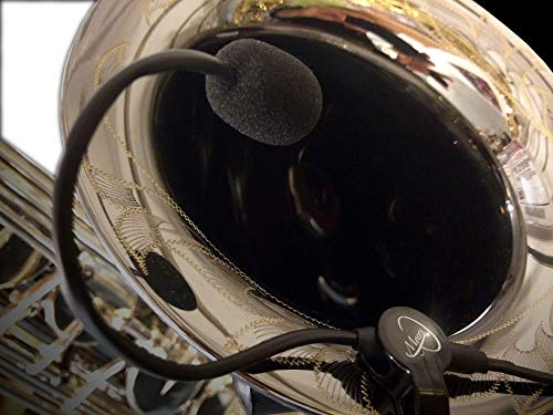 The Feather Subcontrabass Saxophone Microphone with Flexible Micro-Gooseneck by Myers Pickups