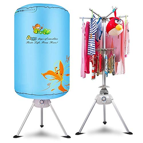 RSTJ-Sjec Clothes Dryer Portable Electric Laundry Drying Rack 33 LB Capacity Round Shape Best Energy Saving Portable Ventless Cloths Dryer Folding Drying Machine with Heater