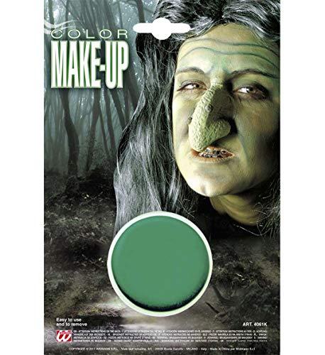 Widmann 4061K - Make Up Grün, in der Dose, 9,6 ml, Schminke, Hexe, Monster, Mottoparty, Karneval, Halloween