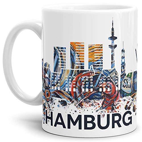 Tassendruck Hamburg-Tasse Skyline - Kaffeetasse/Mug/Cup - Qualität Made in Germany