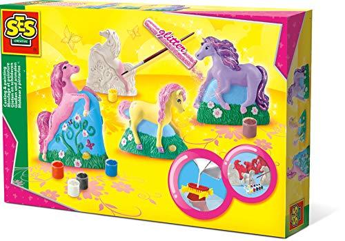 SES 01356 - Cavalli da Creare e Dipingere, Multicolore