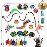 猫じゃらし セットYangbaga25個猫のおもちゃセット 猫おもちゃ 猫セット 猫遊び用 猫運動不足やストレス解消対策 猫のダイエット レーニング 鈴付き