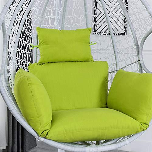 Pineapple Cojín colgante de la silla del huevo, cojín del asiento de la cesta colgante del columpio, grueso colgante cojín de la silla de la hamaca, cojín de mimbre colgante de la silla del huevo