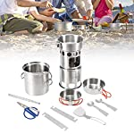 Lixada-Camping-Cookware-Mess-Kit-Stainless-Steel-Folding-Wood-Stove-Pot-Pan-Set-Bowls-Spoon-Spork-Tableware-Cooking-Set10Pcs12Pcs