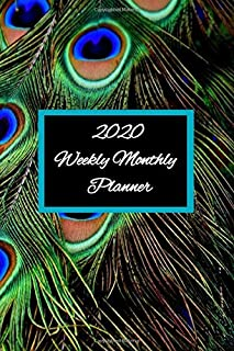 2020 peacock weekly monthly planner: pocket book for December 2019 to january 2021 each monthly spread contains an overview of the month and a notes section