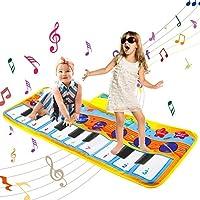ポータブルピアノキーボードプレイマット、タッチクロールプレイ、スピーカー内蔵の音楽ブランケット、録音および音量機能