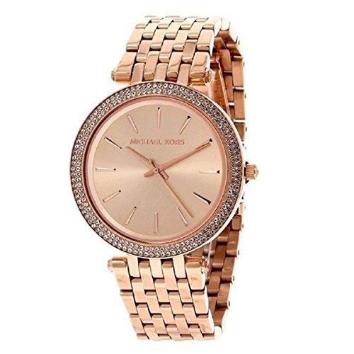 Michael Kors Damen-Uhren Rund Analog Quarz One Size Rosé Edelstahl 32002998