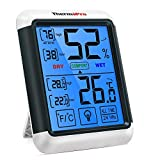 ThermoPro TP55 Digital Thermometer Indoor Hygrometer Humidity Indicator with Large Touch Screen and Backlight Temperature and Humidity Gauges