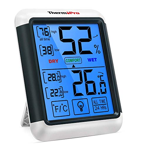 ThermoPro TP55 Digital Indoor Hygrometer Thermometer Temperature and...