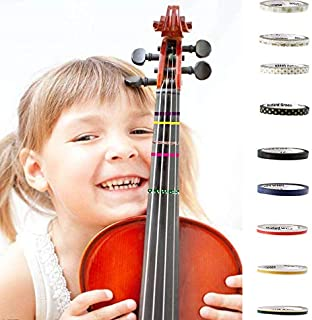 3PCS Fingerboard Tapes For Violin, Viola and Cello,LSSH Fingering Fret Board Note Position, Mini Colorful Set For Teacher, Student, Kids and Beginner