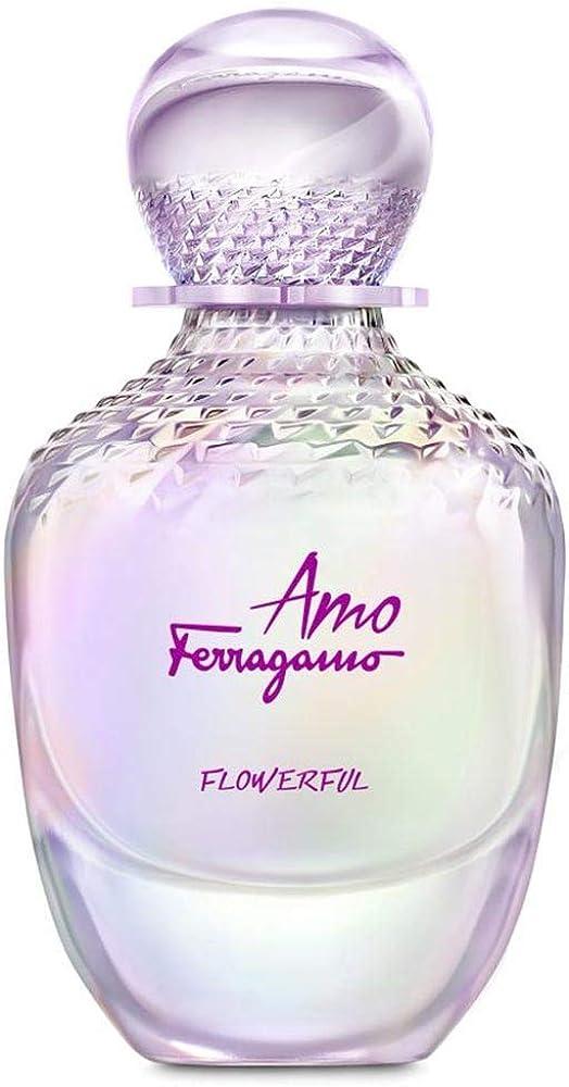 Salvatore ferragamo amo ferragamo flowerful,eau de toilette,profumo  da donna,30 ml 8052086376472