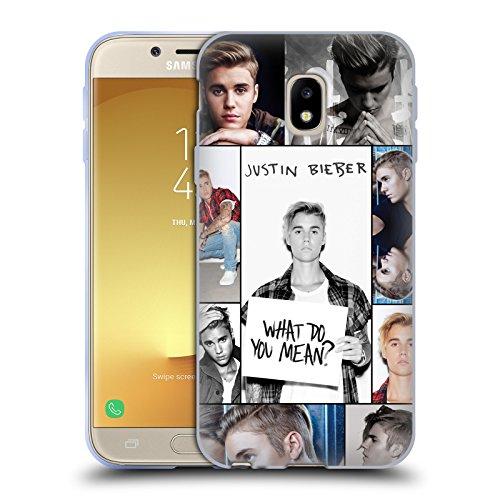 Head Case Designs Offizielle Justin Bieber Netz Poster Purpose Soft Gel Huelle kompatibel mit Samsung Galaxy J3 (2017)