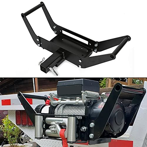 ECOTRIC 10x 4 1/2 Cradle Winch Mount Mounting Plate 13,000 Lb Capacity Recovery Winches with One Year Warranty