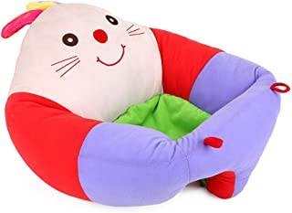 Baby Learn Sitting Chair Sofa Nursery Support Seat Pillow Cartoon Animal Shaped Infant Safety Seats Dining Chair Kids Soft Plush Cushion Toys Gift Dining Chair  Color Purple  Size One size