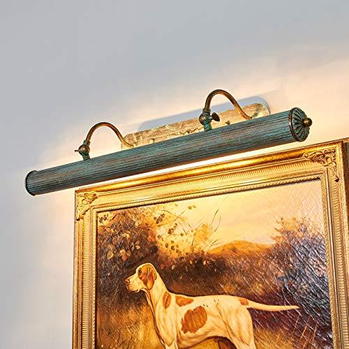 Lindby Wandleuchte, Wandlampe Innen 'Beno' dimmbar (Retro, Vintage, Antik) in Bronze aus Metall u.a. für Wohnzimmer & Esszimmer (4 flammig, E14, A++) - Bilderleuchte, Wandstrahler, Wandbeleuchtung