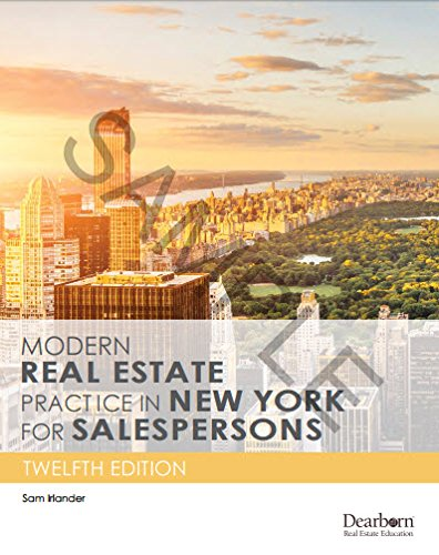 Download Modern Real Estate Practice in New York for Salespersons 1475432496