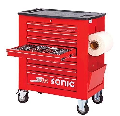 Sonic Werkstattwagen S1 Schaumeinlagen mit 391 Teilen Farbe Rot
