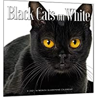 2021年カレンダー 白地に黒猫
