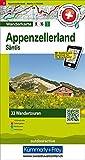 Appenzellerland Säntis: Nr. 2, Tourenwanderkarte mit 33 Wandertouren, 1:50 000, mit kostenlosem Download für Smartphone Karten, Tourenführer, Fotos, ... Autobus (Hallwag Touren-Wanderkarten)