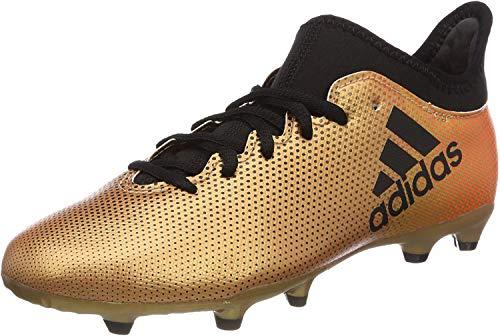 adidas X 17.3 Fg J, Scarpe da Calcio Unisex-Bambini, Oro (Tagome/Cblack/Solred Tagome/Cblack/Solred), 38 EU