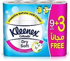 Kleenex Toilet Tissue Dry Soft, 9+3 Rolls – 200 Sheets x 2 Ply
