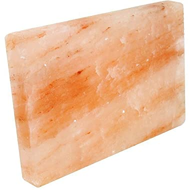 Rocking Salt Himalayan Natural Crystal Salt Cooking Tile with Free Recipe Guide Included, 8  L x 6  H x 2  W