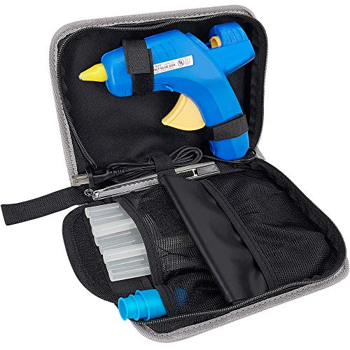 Hot Glue Gun Kit - 60/100W Dual Power Glue Gun Full Size(Not Mini) with 10pcs Glue Sticks & other Accessories in Carrying Case, Best Glue Gun for Sealing Repairing Craft DIY