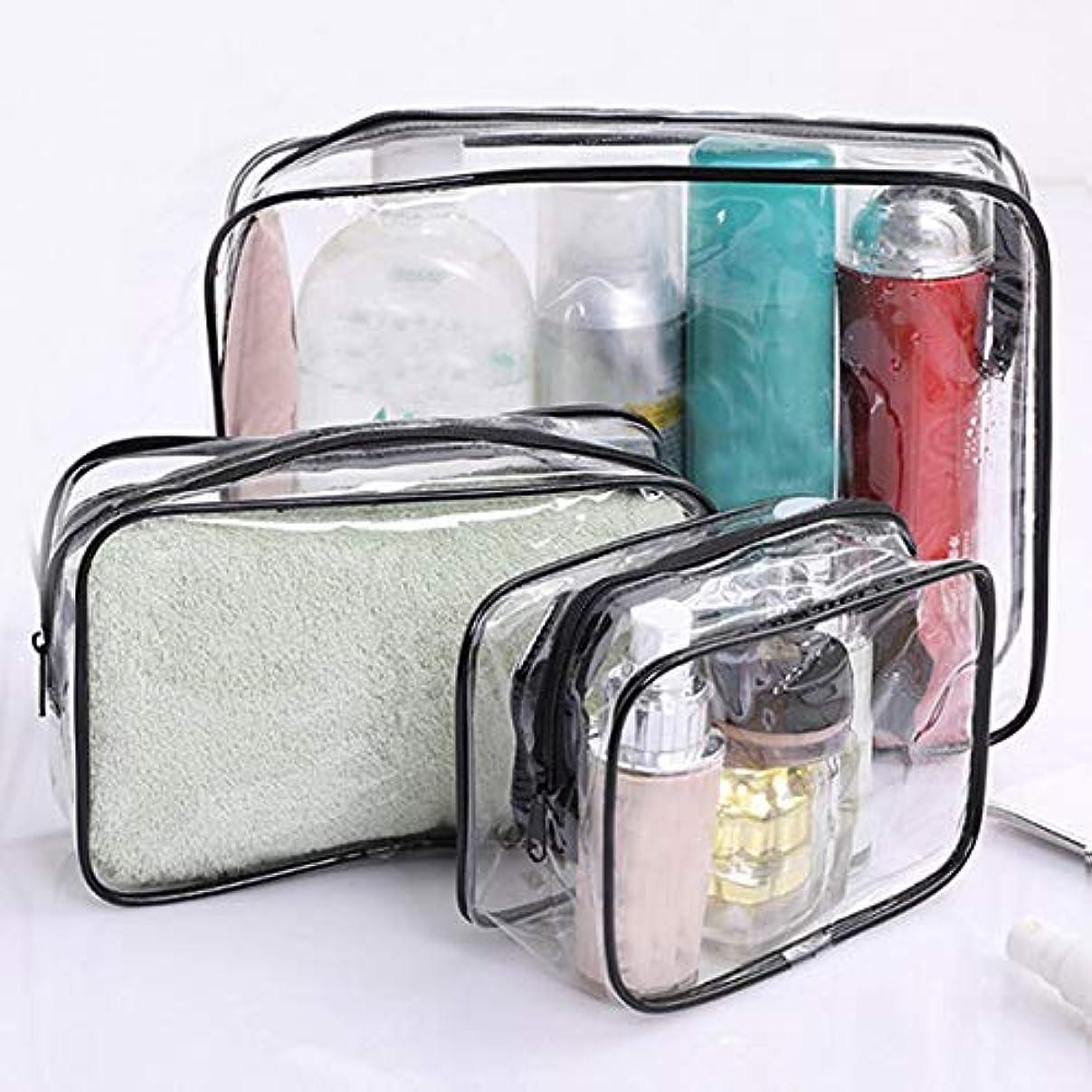 陪審蒸留する見捨てられた旅行透明化粧品袋pvc女性ジッパークリア化粧バッグ美容ケースメイクアップオーガナイザー収納風呂トイレタリーウォッシュバッグ