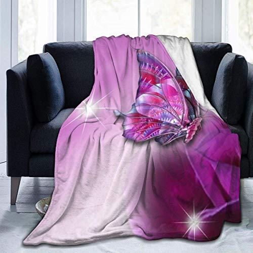 COMMER Bedruckte weiche warme Decke, Flanell-Fleecedecke, Decke für Couch, Sofa, Wohnzimmer, Dekoration