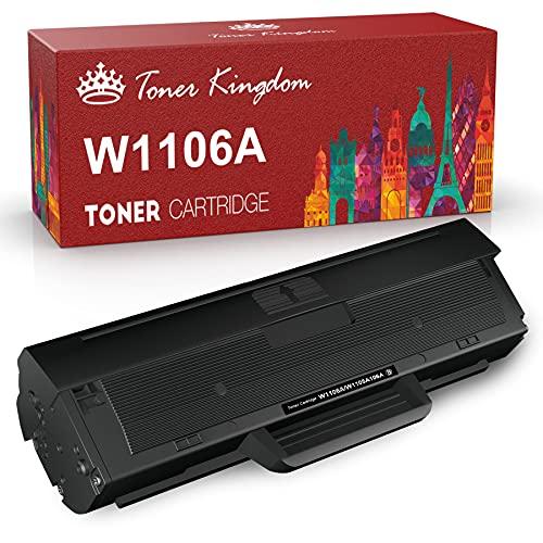 Toner Kingdom 106A Cartucce di Toner di Ricambio per HP 106A W1106A Compatibile per Laser 107a 107r 107w MFP 135a MFP 135w MFP 135r MFP 137fnw MFP 135wg MFP 137fwg (1 Nero, con Chip)