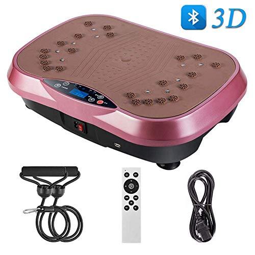 Plataformas vibratorias Plataforma vibratoria Power Plataforma vibratoria Máquina de cuerpo completo Máquina de ejercicios Entrenador de masajes Trainer con Bluetooth remoto y 2 bandas de resistencia