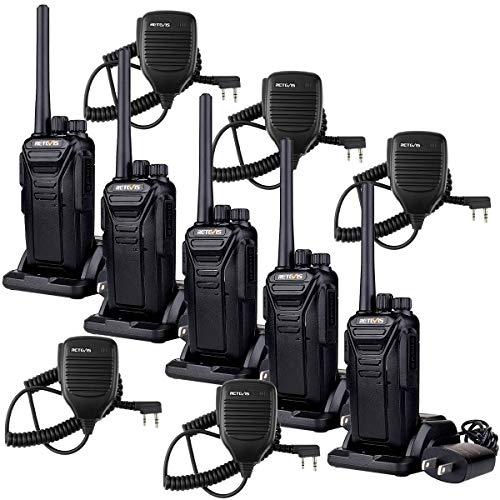 Retevis RT27 Walkie Talkies,2 Way Radios Long Range Rechargeable,Two Way Radio with Speaker Shoulder Mic, USB Hands Free Well Built,Commercial Police School Security(5 Pack)