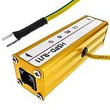 BeMatik - Protector de sobretensión y descargas eléctricas para teléfono RJ11 10KA DW-0499