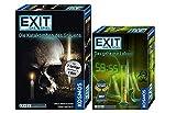"""EXIT Kosmos Spiele 692742 - Gioco di carte """"Il laboratorio segreto"""" + Kosmos 694289 """"Die Catakomben des Grauens"""", 2 pezzi in 1 scatola"""