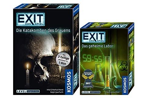 EXIT Kosmos 692742 - Juego de mesa (en caja de 2 piezas, el laboratorio secreto + Kosmos 694289)