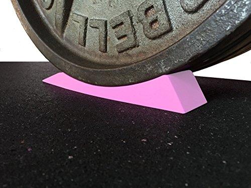 The Dead Wedge - Deadlift Jack Alternative for Your Gym Bag - Raises loaded barbell & plates for effortless Loading/Unloading. (Pink)