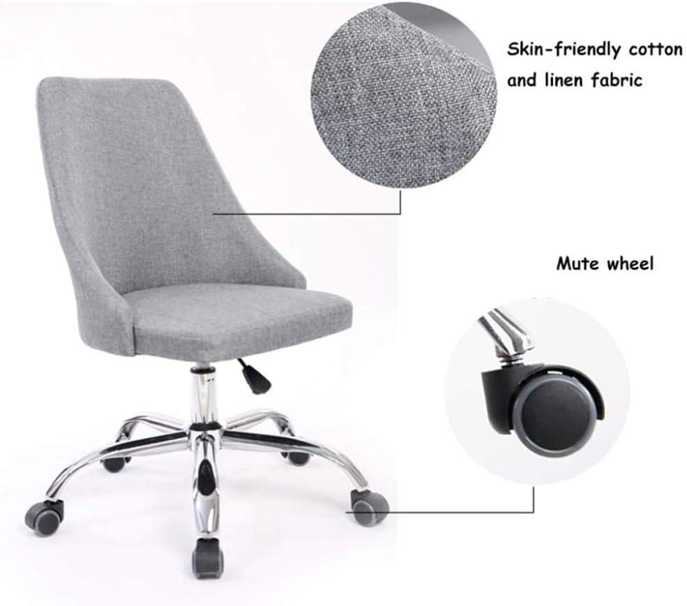 TRGCJGH Chaise D'ordinateur Ergonomique Chaise Pivotante en Tissu De Meubles Chaise De Bureau à Haut Dossier Coussin épais Respirant Style Vintage,5 5