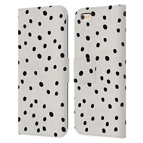 Head Case Designs Licenciado Oficialmente KookiePixel Lunares de Muy Buen Gusto Patrones 2 Carcasa de Cuero Tipo Libro Compatible con Apple iPhone 6 Plus/iPhone 6s Plus