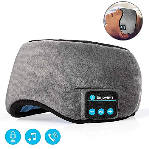 Preisvergleich Produktbild LAYOPO 4.2,  Bluetooth,  Schlafmaske,  kabellose Kopfhörer,  Bluetooth,  USB-Ladegerät,  für Reisen,  Musik,  Schlaf-Ohrhörer,  integrierte Lautsprecher,  Mikrofon,  Freisprecheinrichtung,  reinigbar