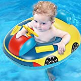 Baby Pool Float, Baby Swimming Floats with Safety Seat Ring Inflatable Kids' Swim Car Floaties Boat for Babies Toddlers Infant Age 6-36 Months Old, Sturdy PVC Pool Floats Summer Water Toy Fun to Swim